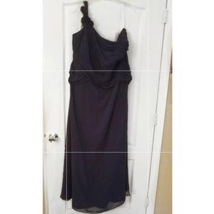 David's Bridal Formal Blue long dress NWT sz 26